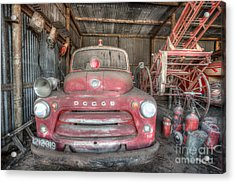 Old Dodge Fire Truck Acrylic Print by Shannon Rogers