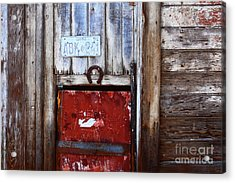 Lucky Old Door 1 Acrylic Print by James Brunker