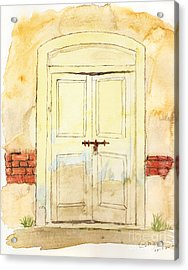 Old Door Acrylic Print by Keshava Shukla