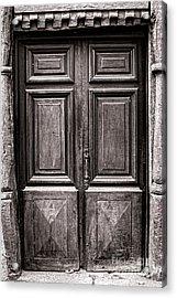 Old Door Acrylic Print by Olivier Le Queinec