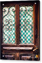Acrylic Print featuring the photograph Old Door by Silvia Ganora