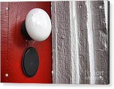 Old Doorknob Acrylic Print by Olivier Le Queinec