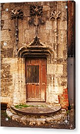 Old Doorway Cahors France Acrylic Print