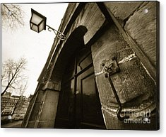 Old Doorway In Amsterdam Acrylic Print