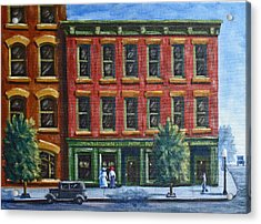 Old Downtown Acrylic Print