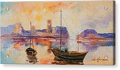 Old Dunbar Harbour Acrylic Print