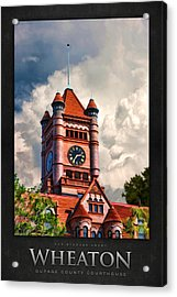 Old Dupage County Courthouse Clouds Poster Acrylic Print