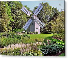 Old East Windmill  Acrylic Print by Janice Drew