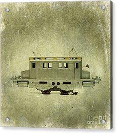 Old Electric Train Acrylic Print by Bernard Jaubert
