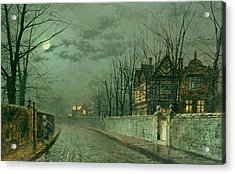 Old English House, Moonlight Acrylic Print