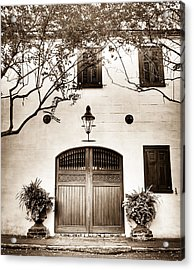 Old Facade Acrylic Print by Andrew Crispi