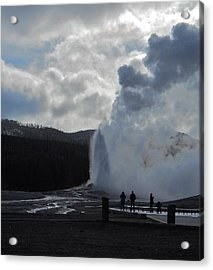 Acrylic Print featuring the photograph Old Faithful Morning by Michele Myers