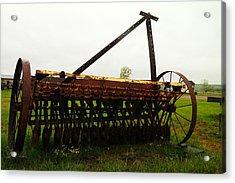 Old Farm Equipment Acrylic Print by Jeff Swan