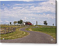 Old Farm House And Barn Gettysburg Acrylic Print by Terry Shoemaker