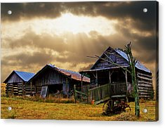 Old Farm House Acrylic Print by B Wayne Mullins
