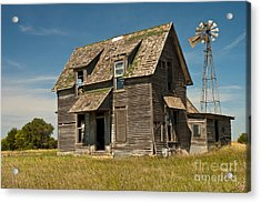 Old Farm House, Kansas Acrylic Print by Richard and Ellen Thane