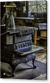 Old Farm Kitchen And Wood Burning Stove Acrylic Print by Lynn Palmer