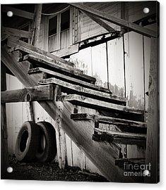 Old Farm Stairs Acrylic Print by Charmian Vistaunet