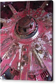Old Farm Tractor Detail Acrylic Print by Don Struke