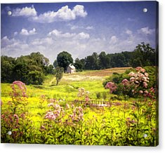 Old Farmhouse At Longwood Gardens Acrylic Print by Vicki Jauron