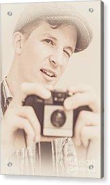 Old Fashion Male Freelance Photographer Acrylic Print