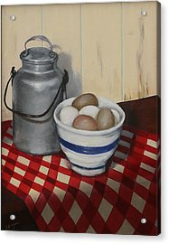Acrylic Print featuring the painting Old Fashioned Breakfast by Sandra Nardone