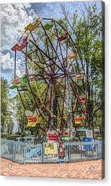 Old Fashioned Ferris Wheel Acrylic Print