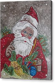 Old Fashioned Santa Acrylic Print by Kathy Marrs Chandler