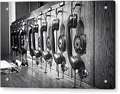 Old-fashioned Wooden Telephone Acrylic Print by Anja Heid / Eyeem