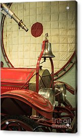 Old Fire Truck Engine Safety Net Acrylic Print