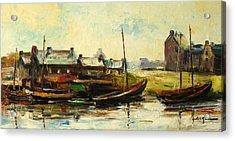 Old Fisherman's Village Acrylic Print