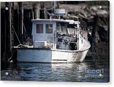 Old Fishing Boat Acrylic Print by Loriannah Hespe