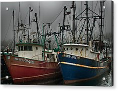 Old Fishing Boats Acrylic Print