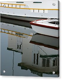 Old Fishing Boats Acrylic Print by Rande Cady