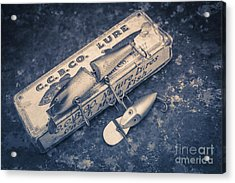 Old Fishing Lures Acrylic Print by Edward Fielding