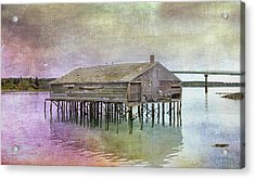 Old Fishing Pier  Acrylic Print by Betty  Pauwels