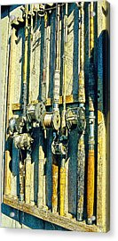 Old Fishing Rods Poster Image Acrylic Print by A Gurmankin