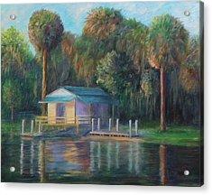 Old Florida Morning At Salt Springs Acrylic Print