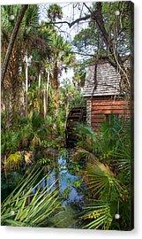 Old Florida Watermill I Acrylic Print by W Chris Fooshee