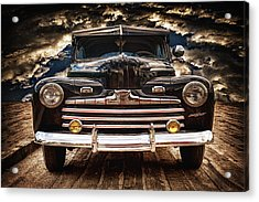 Acrylic Print featuring the photograph Old Ford 2 ... by Chuck Caramella