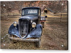 Old Ford Flatbed Acrylic Print