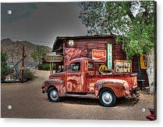 Old Ford Pickup On Route 66 Acrylic Print by Lynn Jordan