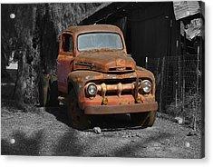 Old Ford Truck Acrylic Print by Richard J Cassato
