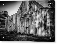 Old Fort Wayne Blacksmith Shop Acrylic Print by Gene Sherrill