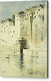 Old Fortress Naples Acrylic Print by Childe Hassam