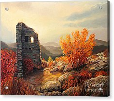 Old Fortress Ruins Acrylic Print by Kiril Stanchev