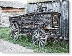 Old Freight Wagon - Montana Territory Acrylic Print by Daniel Hagerman