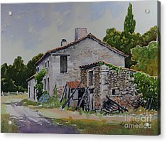 Old French Farmhouse Acrylic Print by Anthony Forster