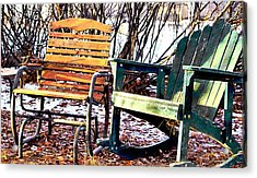 Old Friends In February Sunlight Acrylic Print by Aliceann Carlton