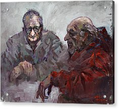 Old Friends Acrylic Print by Ylli Haruni